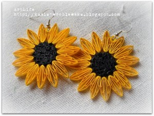 quilling tutorial husking sunflower earrings tutorial
