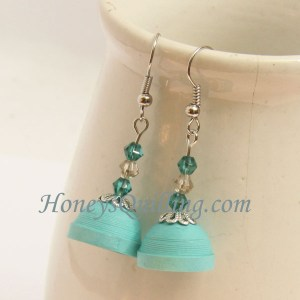 quilling tutorial paper quilled jhumka earrings with beads