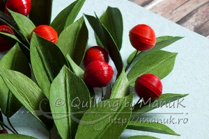 quilling tutorial : quilled-cherry-branches-detail