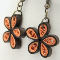 quilled daisyearring quilling tutorial