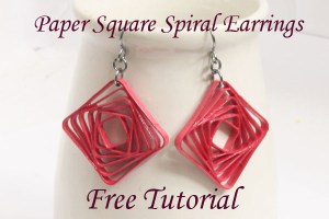 quilling tutorial quilled spiral square earrings tutorial