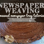Newspaper Weaving Tray Tutorial