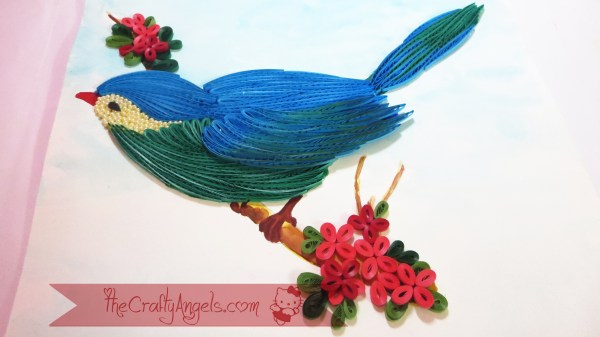 quilled bird quilling combing technique tutorial (11)