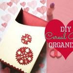 DIY Cereal Box Organizer Tutorial