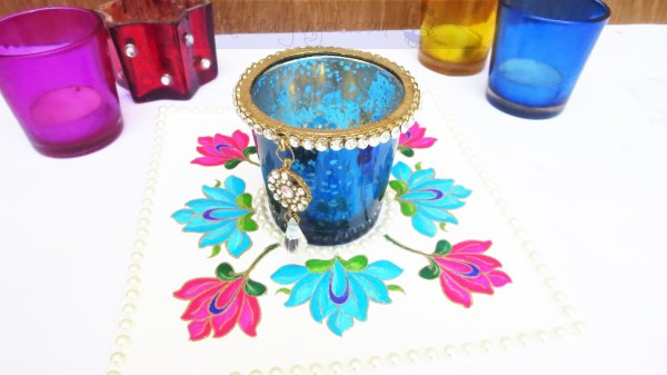 Handmade Diya Base Altenew persian motif