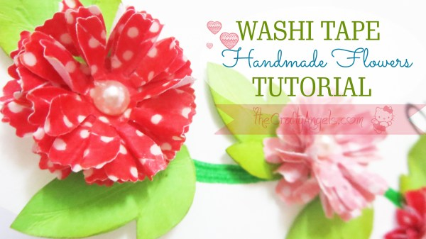 Handmade flower with washi tape tutorial (11)
