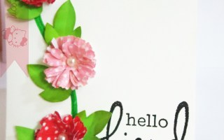 Handmade flower with washi tape tutorial