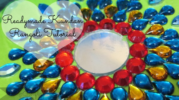 Readymade kundan rangoli tutorial (8)