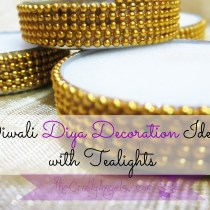 Diwali diya decoration idea with tealights