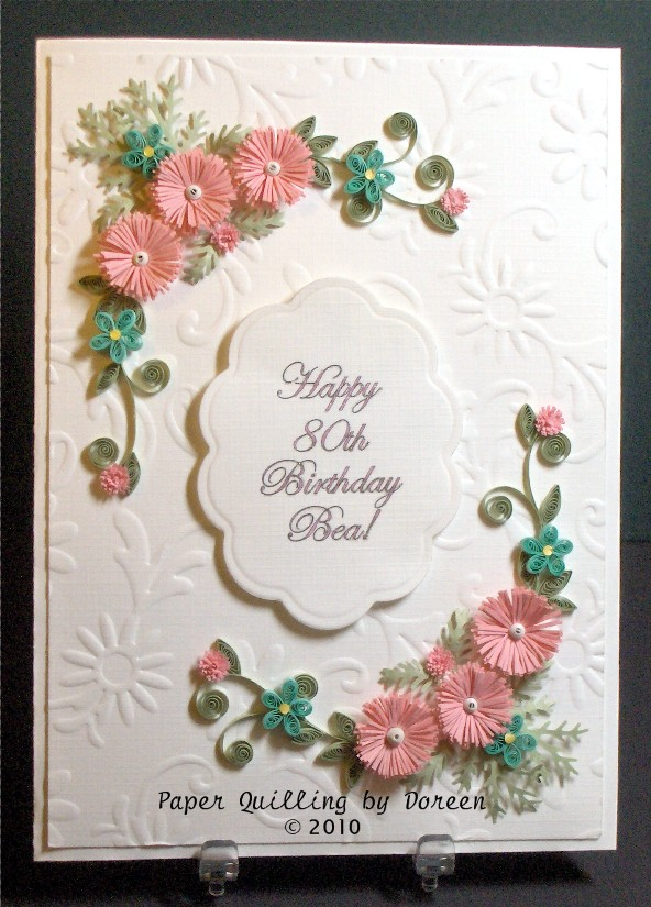 quilled card, quilling, handmade card, cardmaking in india