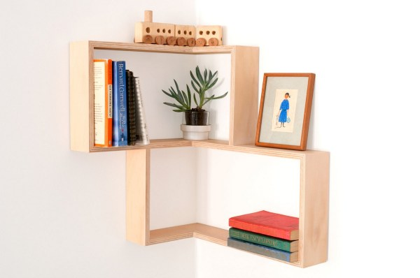 decorate home interior with wall shelf