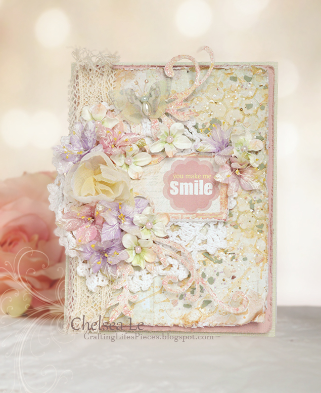 shabby chic card, shabby chic india, cardmaking india