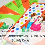 Art Impressions laughing : Friends card