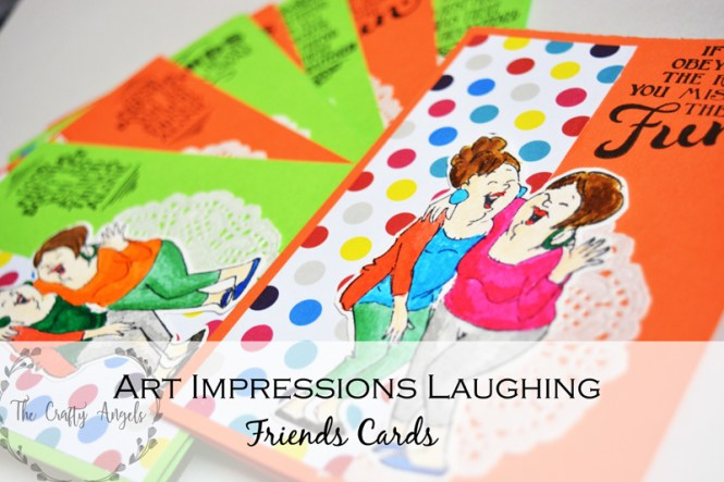 art impressions laughing, friends card, cardmaking india, indian craft supplies, laughing card, handmade card, art impressions card
