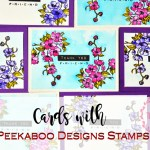 Cards with Peekaboo designs stamps