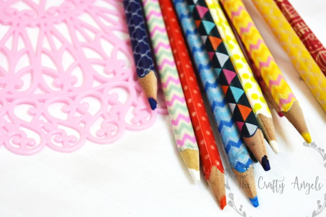 washi tape pencil, washi tape craft, washi tape ideas, washi tape craft ideas, DIY washi tape ideas, Washi tape wrapped pencil, school craft, washi tape kids craft