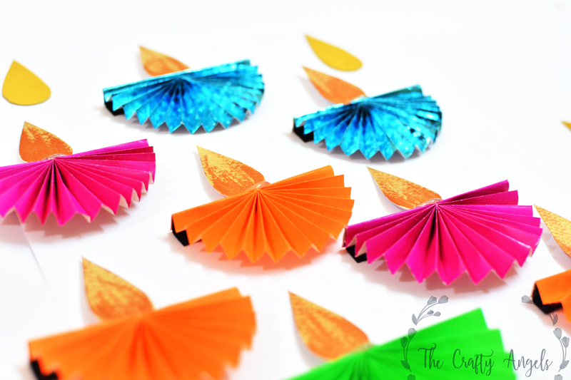 Diwali Craft For Kids Paper Diya The Crafty Angels