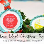 Lace edged Christmas tags tutorial