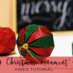 DIY Christmas ball ornaments (Itsy Bitsy DIY Kit)