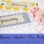 DIY Planner Calendar for 2017