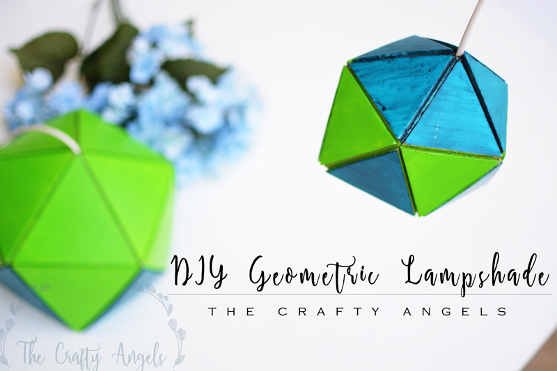 DIY geometric lampshade with foam sheets , DIY geometric lampshade, diy lampshade, quilted lampshade, geometric diy, simple lampshade, handmade lampshade, lampshade with cardboard, foam craft, diy with cardboard