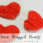 Yarn wrapped Hearts – Valentines Craft