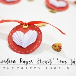 Accordion paper hearts tutorial