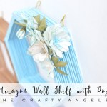 Making Hexagon wall shelf with Popsicles