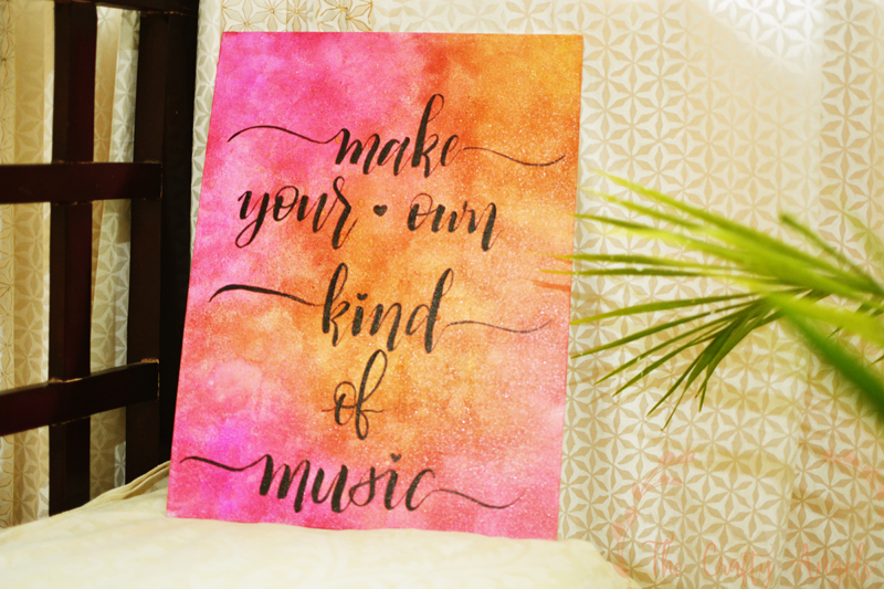 Handlettered Canvas quote