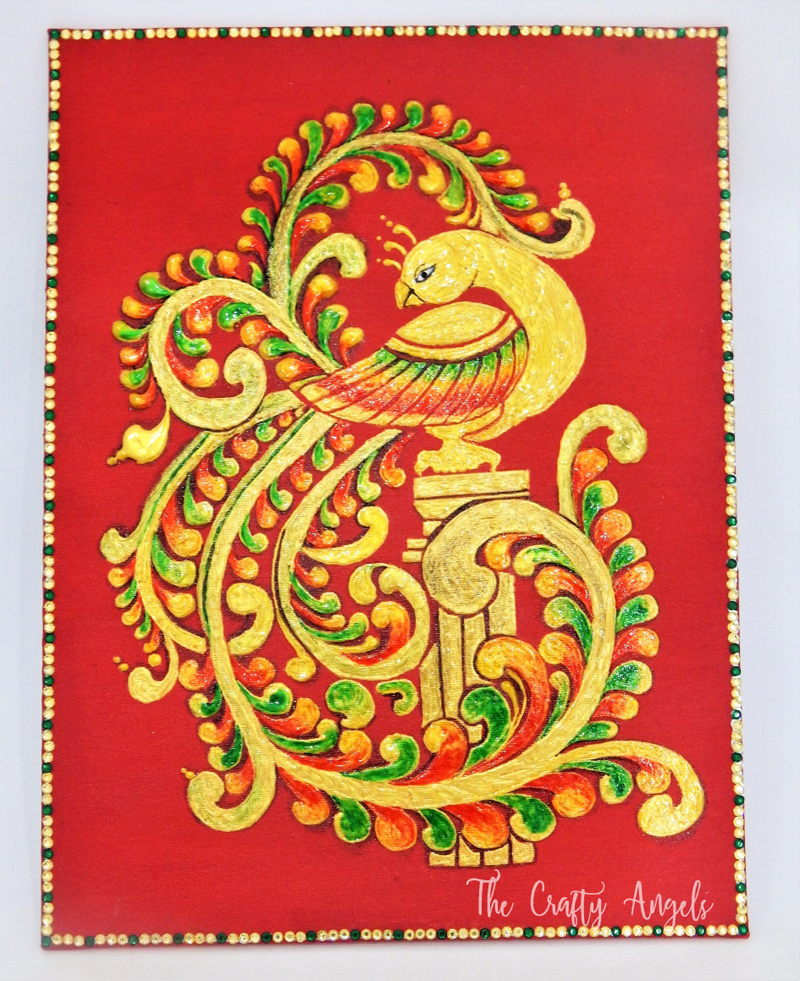 Indian art, Indian painting, traditional painting, Indian art forms, How to make Tanjore painting, Tanjore painting tutorial, step by step tanjore painting, Tanjore painting, Tanjavur painting
