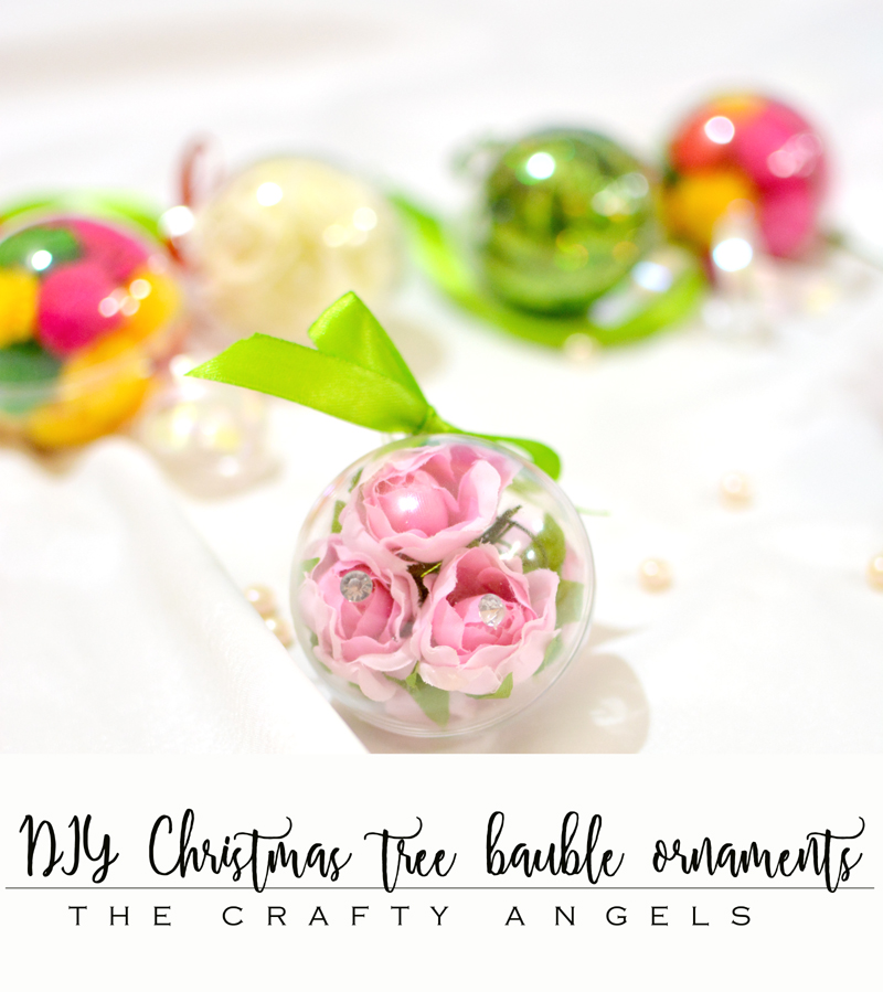 DIY Christmas tree bauble ornaments with clear baubles, christmas craft, christmas crafts, christmas ornaments, christmas kids activity, christmas handmade, handmade christmas , christmas in india, indian christmas, craftyangels, angelajose