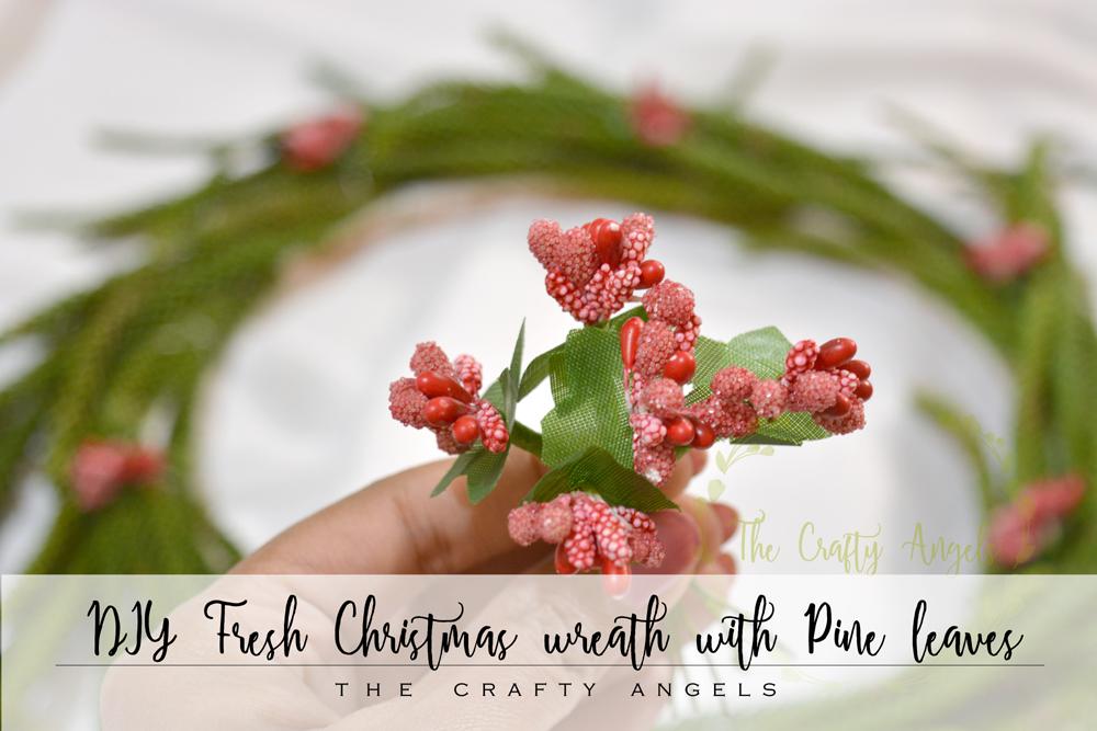 DIY Fresh Christmas wreath with Pine leaves, DIY Christmas wreath, christmas wreath on budget, budget diy wreath, diy wreath, christmas wreath india, christmas decor, christmas craft, christmas decor, fresh leaf wreath, easy wreath tutroial, wreath making ideas