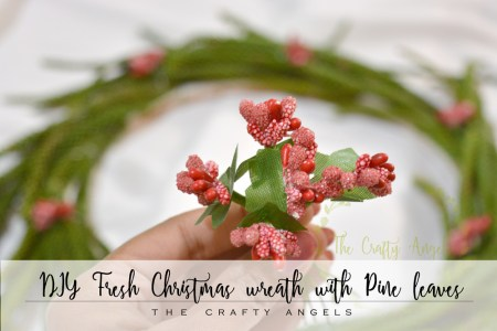 DIY Fresh Christmas wreath with Pine leaves, DIY Christmas wreath, christmas wreath on budget, budget diy wreath, diy wreath, christmas wreath india, christmas decor, christmas craft, christmas decor, fresh leaf wreath, easy wreath tutroial, wreath making ideas