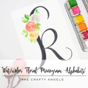 floral alphabets, calligraphy india, calligraphy, lettering, watercolorflorals, floral paintings, floral painting, DIY alphabet,DIY monogram project,floral monogram,monogram project, watercolor floral monogram, watercolor monogram, watercolor florals, nursery baby monogram