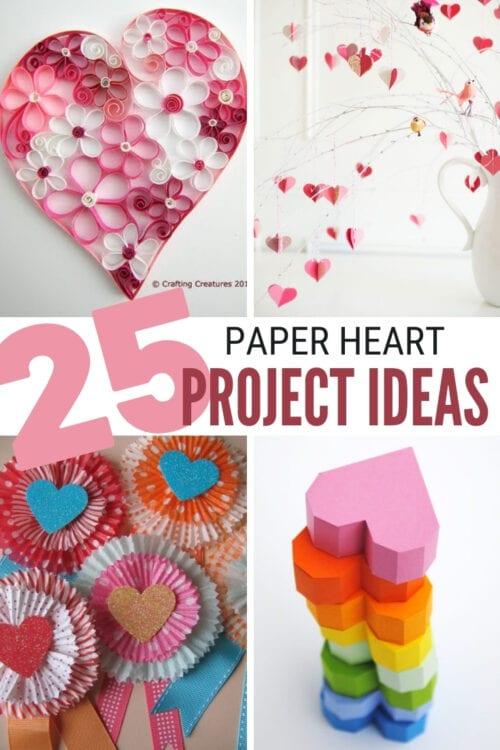 Paper Heart Decorations : paper, heart, decorations, Paper, Heart, Crafts, Ideas, Valentine's