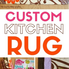 Custom Kitchen Rugs Outdoor Miami How To Make A Rug The Crafty Blog Stalker Hgtv Fabric Easy Sew Home Decor Diy No