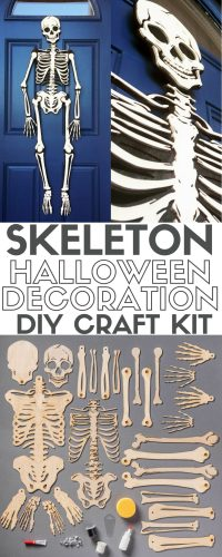 How to Make a Skeleton Halloween Decoration for the Front
