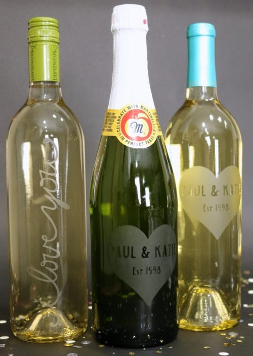 How To Make A Personalized Etched Glass Wine Bottle The