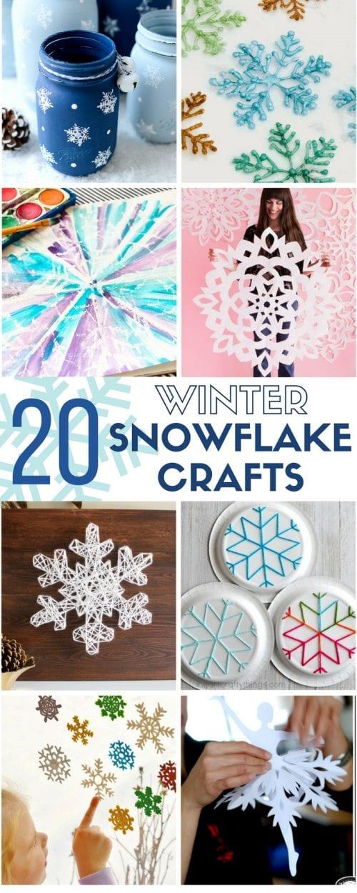 20 Winter Snowflake Crafts The Crafty Blog Stalker