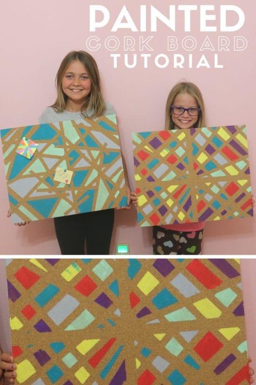 Painted Cork Board : painted, board, Painted, Board, Crafts
