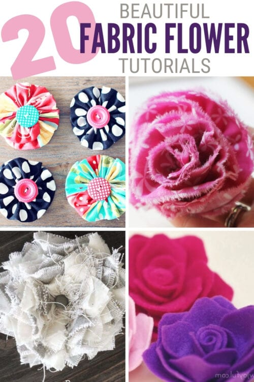How To Make Flowers Out Of Fabric : flowers, fabric, Fabric, Flower, Tutorials, Crafty, Stalker
