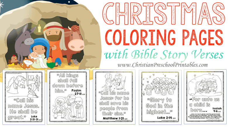 christmas bible coloring pages - the crafty classroom