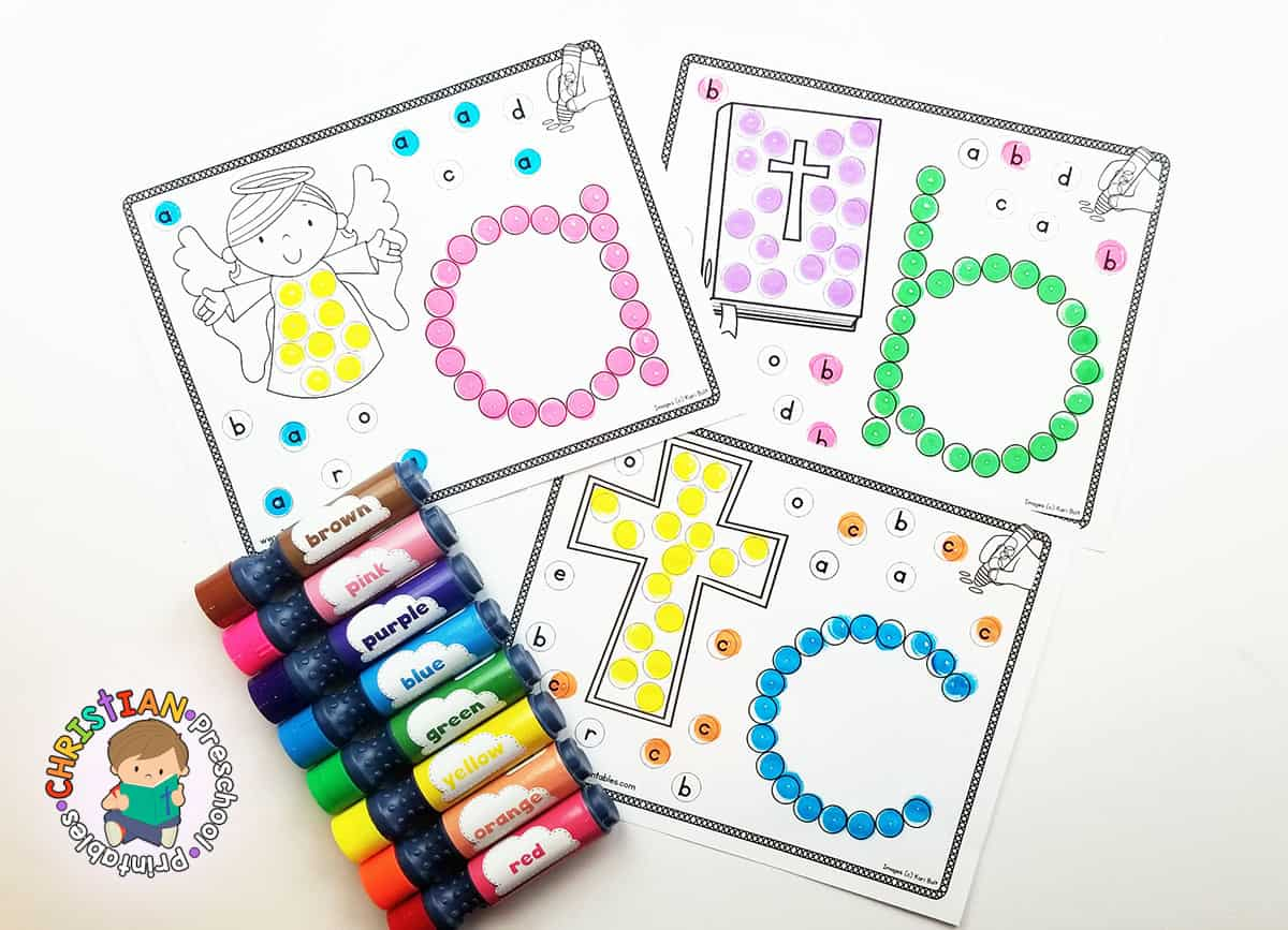 Bible Abc Dab Amp Dot Worksheets