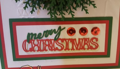 Christmas Card - Wreath Sentiment