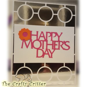 Handcrafted Mother's Day Card - Mirrors and Circles
