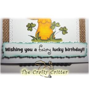 Clover Fairy Birthday Sentiment