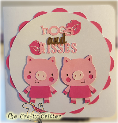 Handcrafted Just Becauce Card - Hogs and Kisses