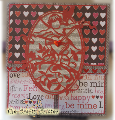 Handcrafted Valentine's Day Card - Double Dutch Fold Cupid