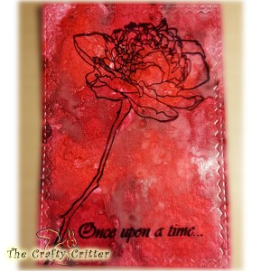 Alcohol Ink Background with Flower and Sentiment