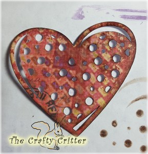 Die Cut Heart Half Inked